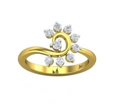 Natural Diamond Ring 0.42 CT / 2.86 gm Gold