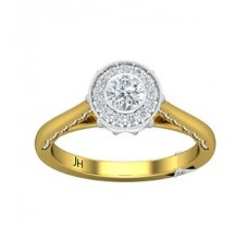 Natural Diamond Ring 0.38 CT / 3.50 gm Gold