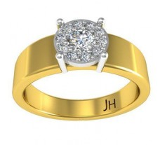 Natural Diamond Ring for Men 0.36 CT / 6.50 gm Gold