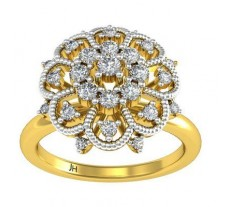 Natural Diamond Ring 0.318 CT / 3.70 gm Gold