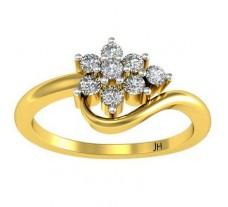 Natural Diamond Ring 0.24 CT / 2.52 gm Gold