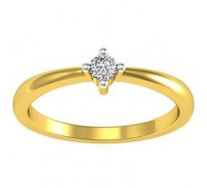 Natural Diamond Ring 0.07 CT / 2.08 gm Gold