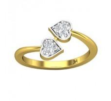 Natural Diamond Ring 0.12 CT / 2.70 gm Gold