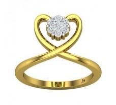 Natural Diamond Ring 0.24 CT / 3.70 gm Gold