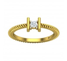 Natural Diamond Ring 0.10 CT / 2.88 gm Gold