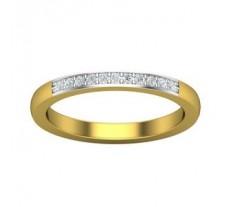 Natural Diamond Band 0.11 CT / 3.40 gm Gold