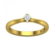 Natural Diamond Ring 0.10 CT / 2.80 gm Gold