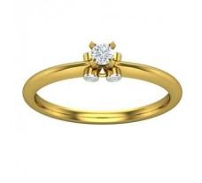 Natural Diamond Ring 0.12 CT / 2.90 gm Gold