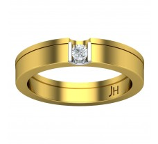 Natural Diamond Band for Men 0.12 CT / 7.30 gm Gold