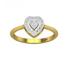 Natural Diamond Ring 0.25 CT / 2.73 gm Gold