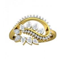 Natural Diamond Ring 0.38 CT / 2.86gm Gold