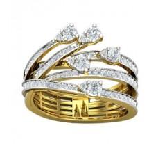 Natural Diamond Ring 0.75 CT / 5.68 gm Gold