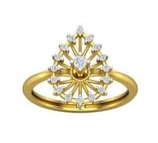 Natural Diamond Ring 0.21 CT / 2.53 gm Gold
