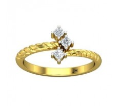 Natural Diamond Ring 0.18 CT / 2.30 gm Gold