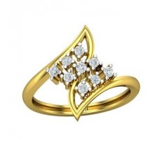 Natural Diamond Ring 0.24 CT / 2.85 gm Gold