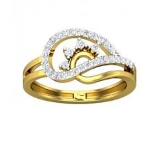 Natural Diamond Ring 0.31 CT / 2.84 gm Gold