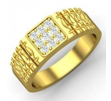 Natural Diamond Ring for Men 0.42 CT / 8.85 gm Gold