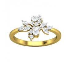 Natural Diamond Ring 0.31 CT / 2.70 gm Gold