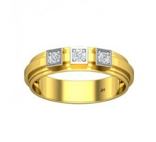 Natural Diamond Band for Men 0.19 CT / 5.72 gm Gold