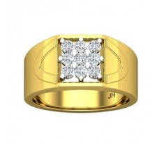Natural Diamond Ring for Men 0.54 CT / 7.00 gm Gold