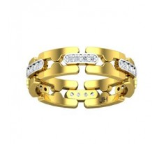 Natural Diamond Band for Men 0.36 CT / 5.27 gm Gold