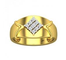 Natural Diamond Ring for Men 0.45 CT / 8.00 gm Gold