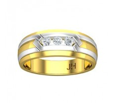 Natural Diamond Band for Men 0.19 CT / 7.50 gm Gold