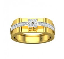 Natural Diamond Ring for Men 0.45 CT / 9.10 gm Gold