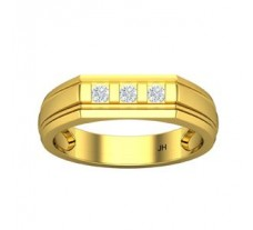 Natural Diamond Band for Men 0.19 CT / 6.66 gm Gold