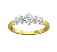 PreSet Natural Solitaire Diamond Ring 0.54 CT / 2.73 gm Gold