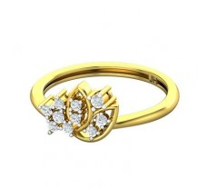 Natural Diamond Ring 0.21 CT / 2.29 gm Gold