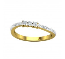 Natural Diamond Ring 0.24 CT / 2.48 gm Gold