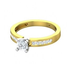 PreSet Natural Solitaire Diamond Ring 0.65 CT / 2.80 gm Gold