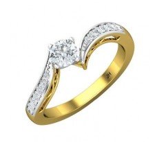 PreSet Natural Solitaire Diamond Ring 0.45 CT / 2.90 gm Gold