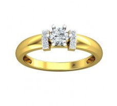 PreSet Natural Solitaire Diamond Ring 0.39 CT / 2.71 gm Gold