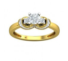 PreSet Natural Solitaire Diamond Ring 0.63 CT / 3.00 gm Gold