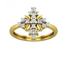Natural Diamond Ring  0.35 CT / 3.20 gm Gold