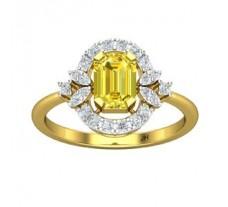 Natural Diamond & Gemstone Gold Ring