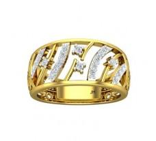 Natural Diamond Bands 0.29 CT / 4.93 gm Gold