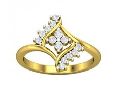 Natural Diamond Ring 0.32 CT / 3.25 gm Gold