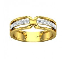 Natural Diamond Band for Men 0.42 CT / 4.90 gm Gold