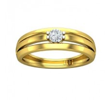 Natural Diamond Ring for Men 0.25 CT / 5.20 gm Gold