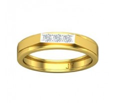 Natural Diamond Band for Men 0.21 CT / 4.60 gm Gold