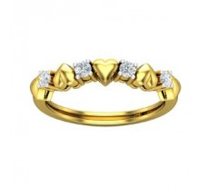 Natural Diamond Heart Ring 0.20 CT / 2.41 gm Gold