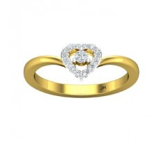 Natural Diamond Heart Ring 0.16 CT / 2.40 gm Gold