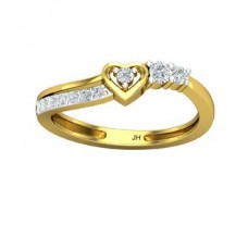 Natural Diamond Heart Ring 0.24 CT / 2.40 gm Gold