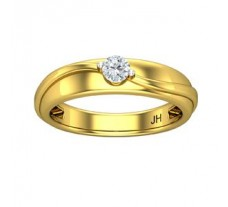 Natural Diamond Band for Men 0.25 CT / 4.46 gm Gold