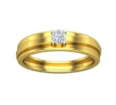 Natural Diamond Band for Men 0.21 CT / 4.78 gm Gold