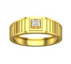 Natural Diamond Ring for Men 0.07 CT / 8.90 gm Gold