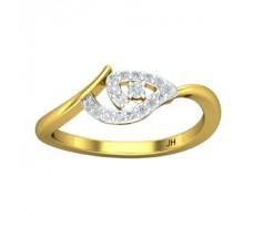 Natural Diamond Ring 0.14 CT / 2.34 gm Gold